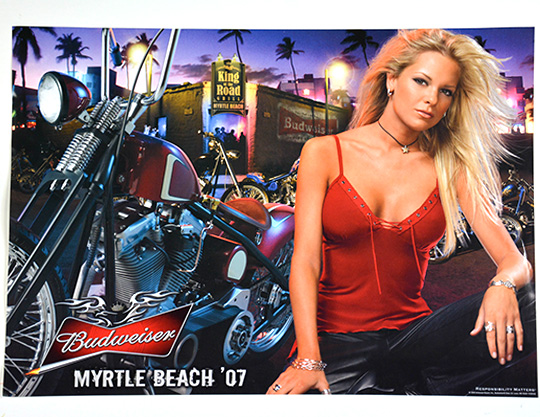 Budweiser-Myrtle-Beach-07-Biker-Poster-by-MOTO-Marketing-Group