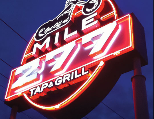 Mile-277-Neon-Sign By MOTO Marketing Group