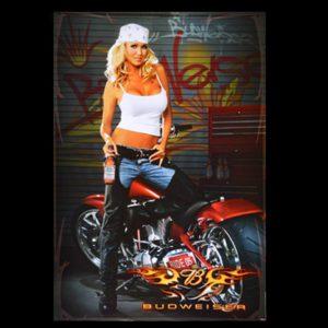 Budweiser Biker Babe 2005 America Bike Weeks Big Dog Motorcycle Poster