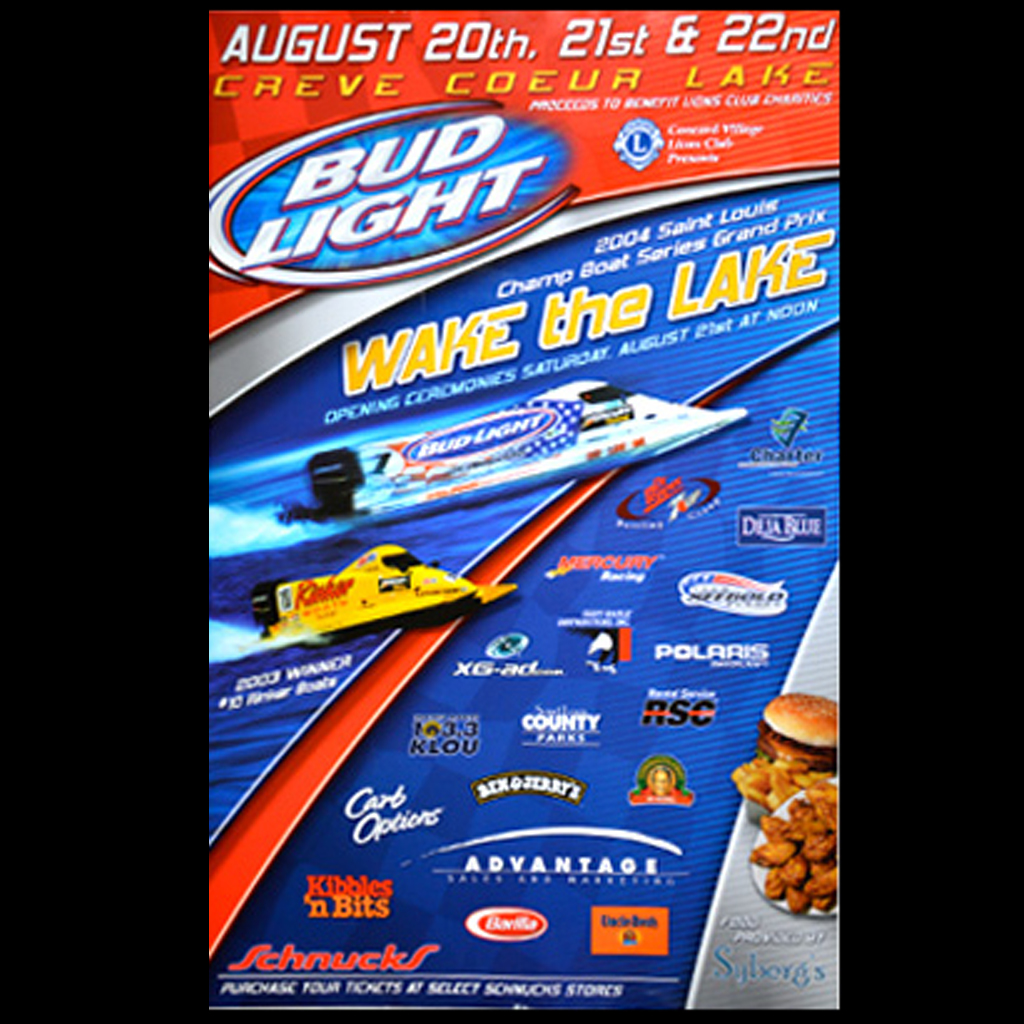 Bud Light Tim Seeboldterry Rinker Wake The Lake Formula One