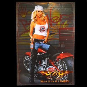 Budweiser Biker Babe 2005 Daytona Beach Bike Weeks Big Dog Motorcycle Poster