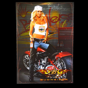Budweiser-Biker-Babe-2005-Laconia-Bike-Week-Big-Dog-Motorcycle-Poster