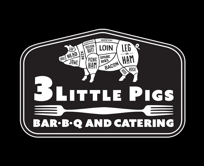 3 Little Pigs BBQ Logo by MOTO Marketing Group
