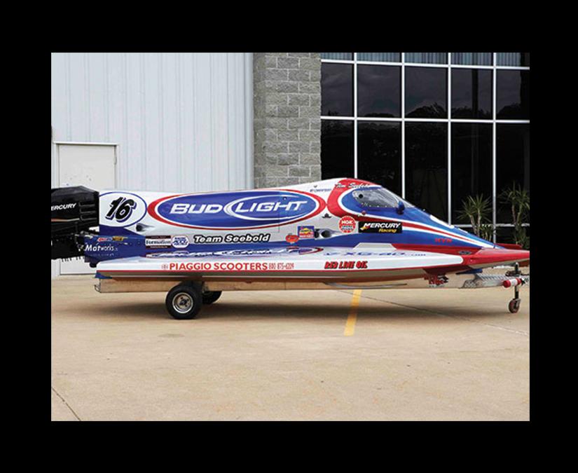 Bud Light F1 Boat Wrap by MOTO Marketing Group