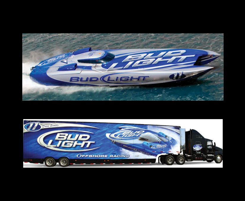 Bud Light Offshore Branding by MOTOMarketingGroup
