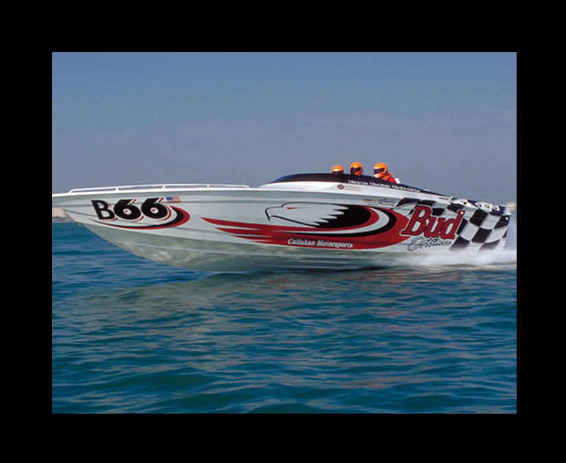 Budweiser Boat Wrap by MOTO Marketing Group