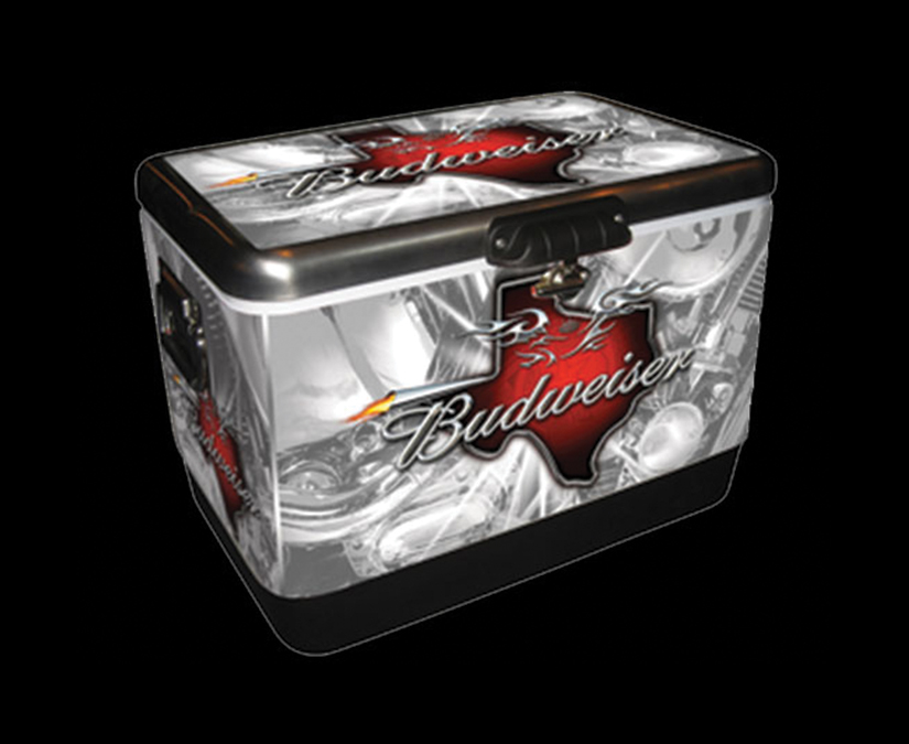Budweiser Cooler Design by MOTO Marketing Group
