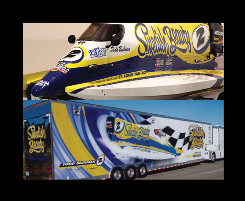 F1 Boat_Trailer Wrap Design by MOTO Marketing Group