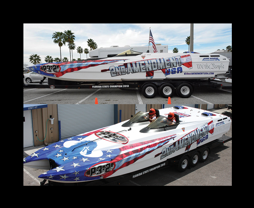 Offshore Race Boat Wrap Design by MOTO Marketing Group-1