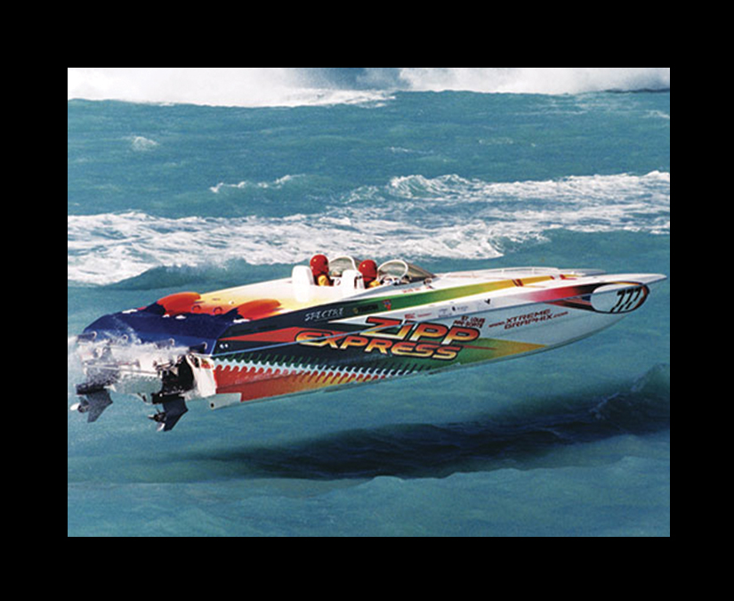 Offshore Race Boat Wrap Design by MOTO Marketing Group-2