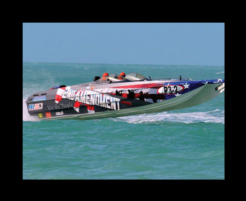 Offshore Race Boat Wrap Design by MOTO Marketing Group-3