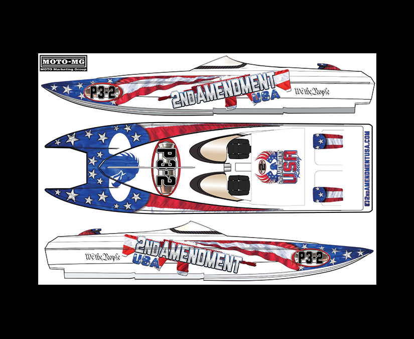 Offshore Race Boat Wrap Design by MOTO Marketing Group