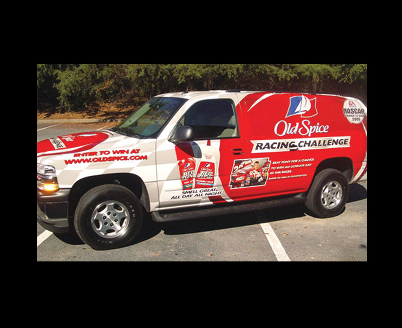 Old Spice Vehicle Wrap by MOTO Marketing Group
