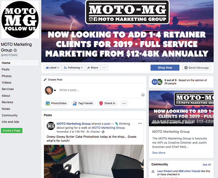 Social Media Development by MOTO Marketing Group