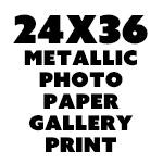 24 x 36 Metallic Gallery Paper Print -$60