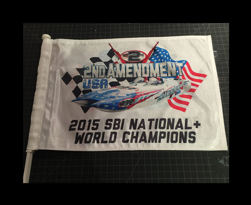 Flag Sublimation printing by MOTO Marketing Group